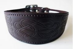 Leather Embossed Dog Collars